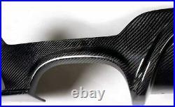 For Bmw F32 F33 M Sport Rear Bumper Diffuser Dual Tip Exhaust Carbon Fibre Color