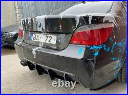 For E60 M Sport only rear bumper diffuser DTM angry look diffuser splitter