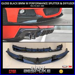 Gloss Black Front Splitter & Rear Diffuser For Bmw 3 Series F30 F31 M Sport