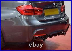 Gloss Black Rear Diffuser For Bmw 3 Series F30 F31 Dual Exhaust M Sport 3m Uk