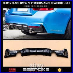Gloss Black Rear Diffuser For Bmw 4 Series F32 F33 F36 M Sport Performance Uk