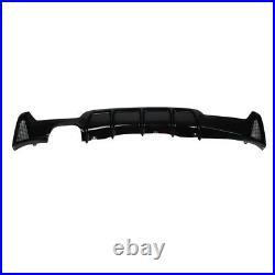 Gloss Black Rear Diffuser For Bmw 4 Series F32/f33/f36 M Sport Performance Twin