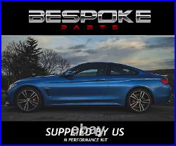 Gloss Black Rear Diffuser + Front Splitter For Bmw 4 Series M Sport F32 F33 Abs
