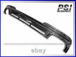 HM Type F10 M-Tech Bumper Carbon Fiber Rear Diffuser for 2011+ BMW F10 535i 550i