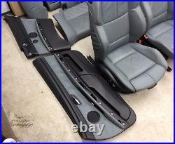 M3 M sport Grey Leather Interior Novillo Palladium Silver BMW E92 M3 3 series