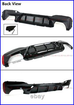M5 Style Glossy Black Rear Diffuser For 17-19 BMW G30 5 Series With M Sport Bumper