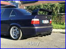 P-Performance Wide Diffuser Addon With Ribs For Rear Bumper BMW E36 M Sport