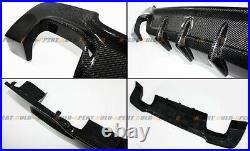 QUAD EXHAUST CARBON FIBER REAR DIFFUSER FOR 07-13 BMW E92 E93 With M-TECH BUMPER