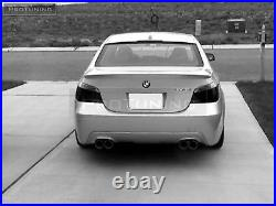 Rear Diffuser For BMW E60 E61 Twin double exhaust diffuzer M sport tech skirt