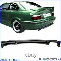 SPORT FRONT BUMPER BODYKIT DIFFUSOR FOG LIGHTS SMOKE+GT SPOILER fits on BMW E36