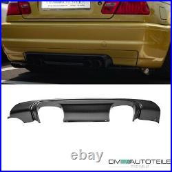 Sport Duplex Rear Diffusor Black Matt fits on BMW E46 with M-Sport witho CSL M3