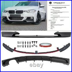 Sport-PERFORMANCE Black Front Spoiler Rear Diffusor fits on BMW F30 F31 M Bumper