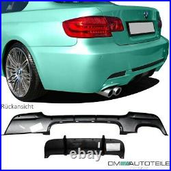 Sport-Performance Heckdiffusor Schwarz 2 Rohr Links für BMW 3er E92 E93 M-Paket