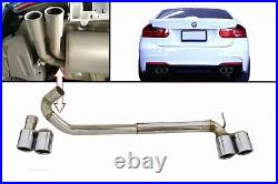 Twin Double Exhaust Systems Muffler Tips for BMW 3 F30 F31 11-18 M3 M Sport Look