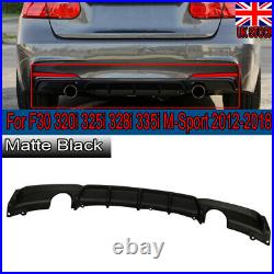 Twin Tailpipe M Performance Sport Rear Diffuser For Bmw 3 Series F30 F31 12-18