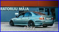 Wide diffuser for BMW E39 Rear M Sport Bumper addon with ribs / fins