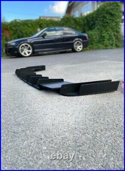 Wide diffuser for BMW E46 Rear M Sport Bumper addon with ribs / fins